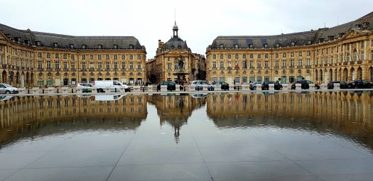 Miroir D'Eau at Place de la Bourse in Bordeaux.