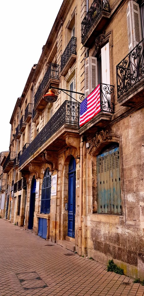 American Flag in Bordeaux
