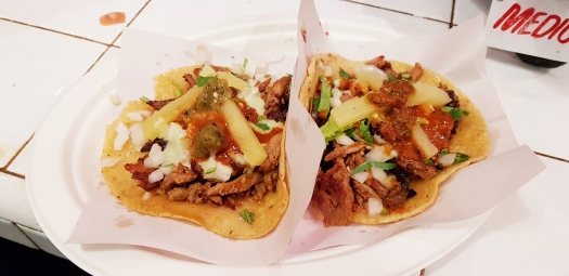 Los Tacos Pork and Chicken Taco Chelsea Market NYC