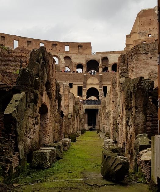 Undergrounds Coliseum Rome Italy