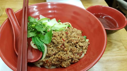 Minced Pork spicy noodles Happy Nouilles Paris France