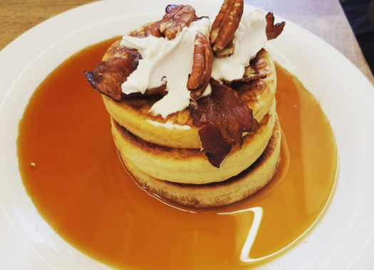 Pancakes with bacon and walnuts Season Paris France foodie yum hungry food good eats