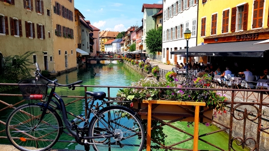 Stunning canals Annecy France Old Town
