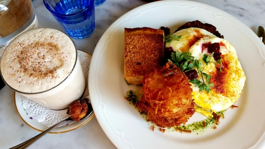 Chai Latte and Pork Belly and Eggs Hardware Society Paris France Montmartre