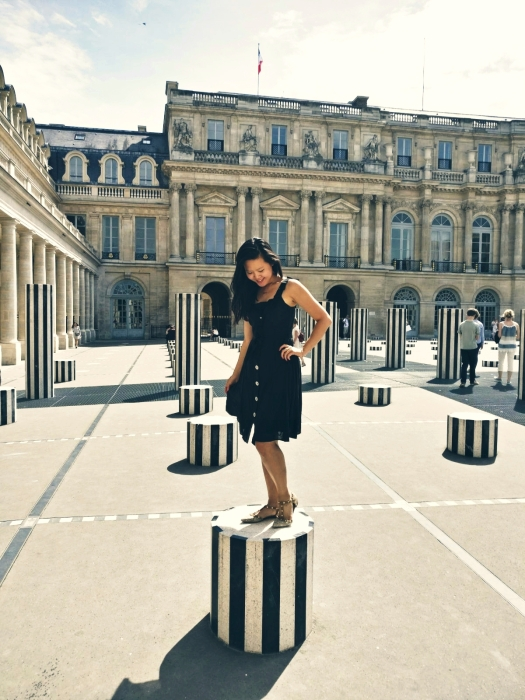 Black and white stones at Palais Royal Paris France